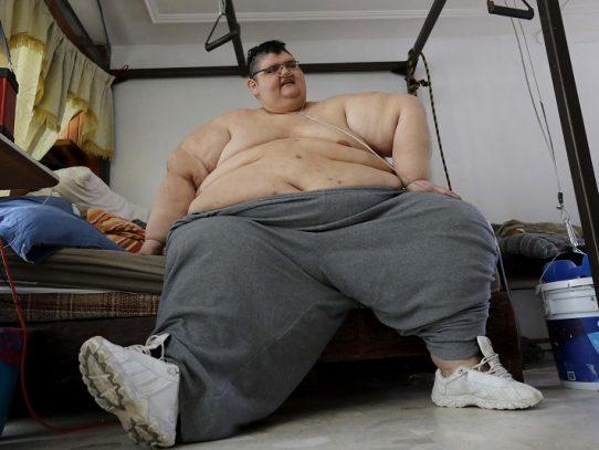 Quien fuera el hombre más gordo del mundo venció al covid-19 en México