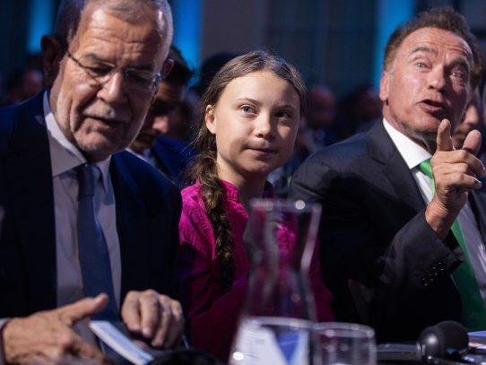 Greta Thunberg y Arnold Schwarzenegger se alían por el clima