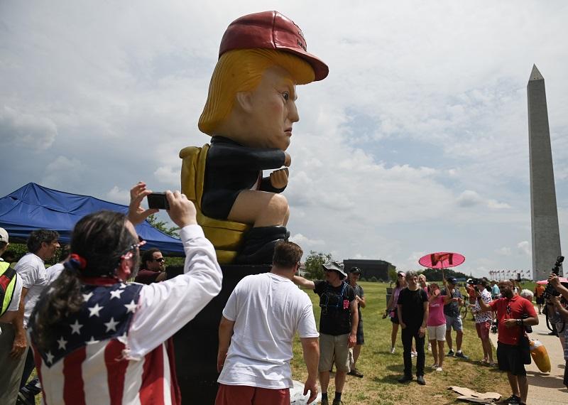 EEUU festeja su Día de la Independencia con Trump en el centro del show