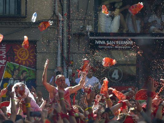 Pamplona inaugura los Sanfermines con el tradicional chupinazo