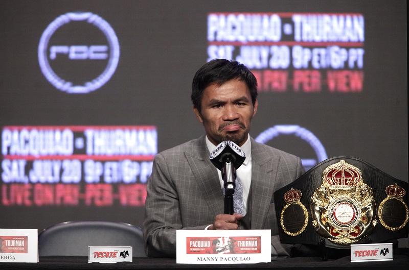 Manny Pacquiao enfrenta la amenaza de noqueo ante Keith Thurman