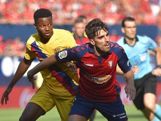 El Barcelona tropieza con un firme Osasuna
