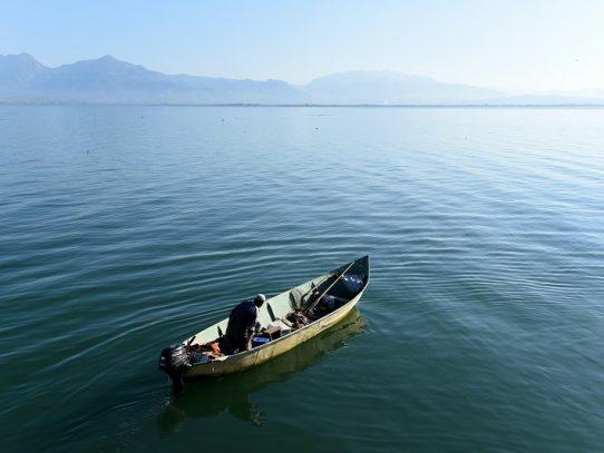 El mayor lago de los Balcanes se queda sin peces