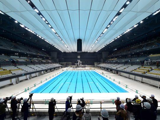 Tokio-2020 muestra su centro acuático olímpico de 15.000 plazas