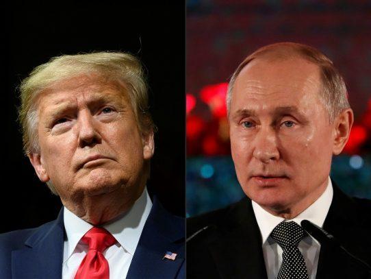 """Trump y Putin ensalzan la """"cooperación"""" en aniversario de encuentro histórico de la II Guerra Mundial"""
