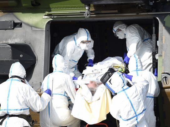 Se acelera traslado de enfermos de coronavirus franceses e italianos a Alemania
