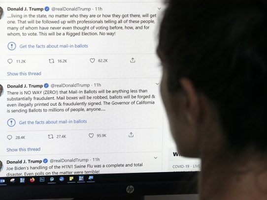 Twitter etiqueta por primera vez un tuit de Trump como engañoso