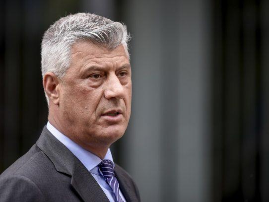 Presidente de Kosovo Hashim Thaçi en La Haya para declarar ante la justicia internacional