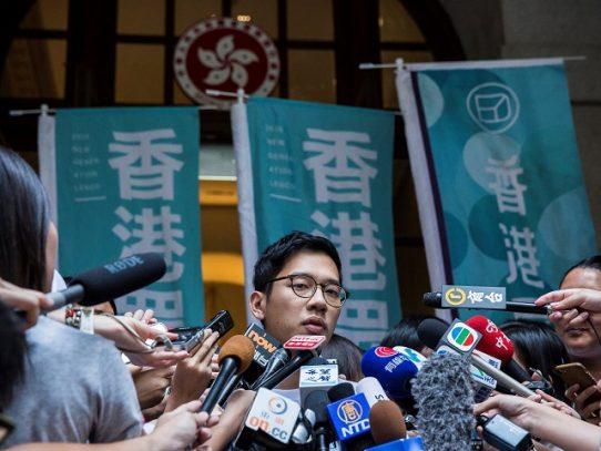"""El mundo """"debe apoyar a Hong Kong"""", pide el activista prodemocracia Joshua Wong"""