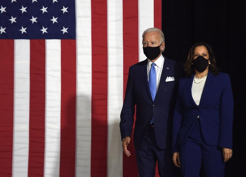 Joe Biden hace su primera aparición de campaña junto a Kamala Harris desde Delaware
