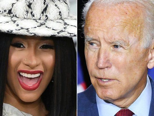 Cardi B y Joe Biden llaman a los jóvenes a votar para sacar a Trump del poder
