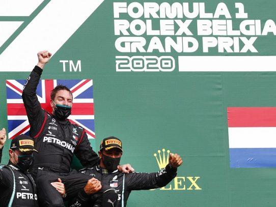 Hamilton gana un GP de Bélgica de Fórmula 1 sin apenas emoción