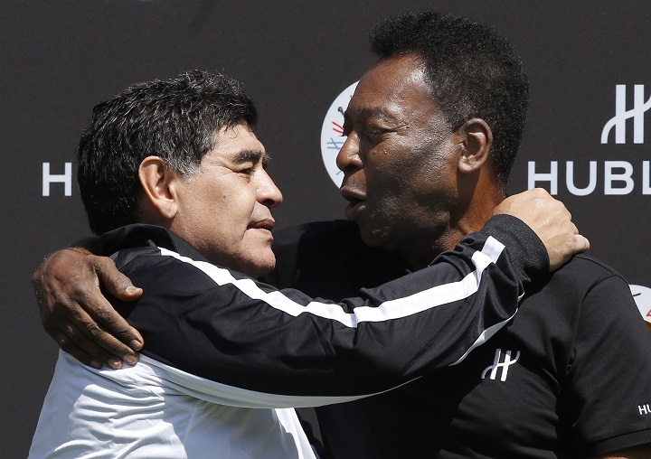 """""""Te amo, Diego"""": el nuevo mensaje de Pelé a Maradona"""