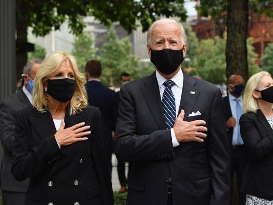 Trump y Biden, vedettes de bajo perfil en el aniversario de los atentados del 11/9