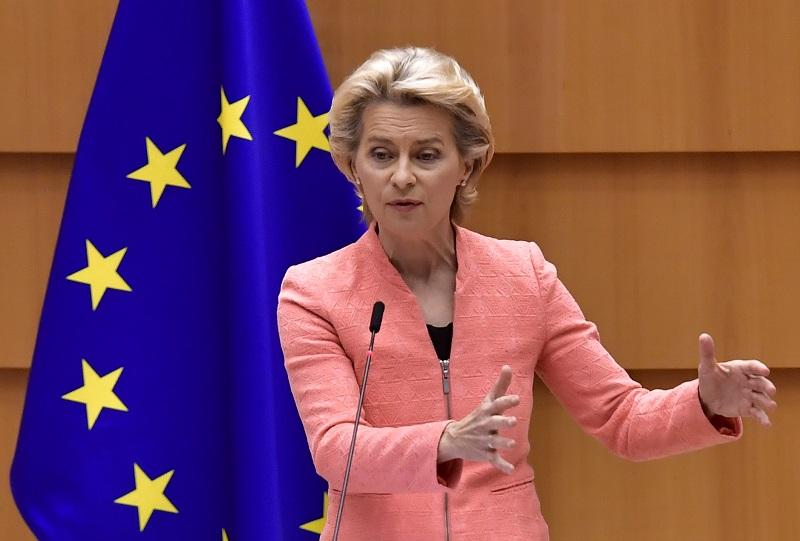 Jefa de la UE pide cooperación ante pandemia y situación migratoria