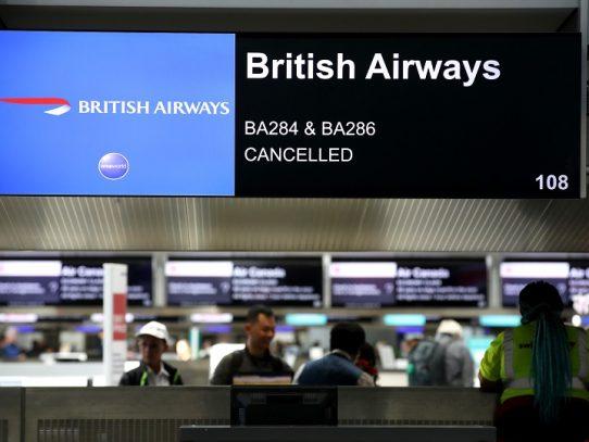 British Airways anula la mayoría de sus vuelos por huelga de pilotos