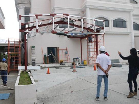 Avanzan trabajos de ampliación del cuarto de urgencias del Hospital Susana Jones