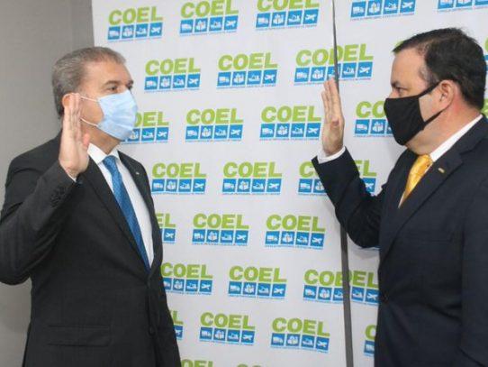 Rodolfo De La Guardia es juramentado como nuevo presidente de COEL