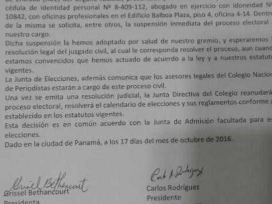 Demanda obliga al Colegio Nacional de Periodistas a suspender elecciones