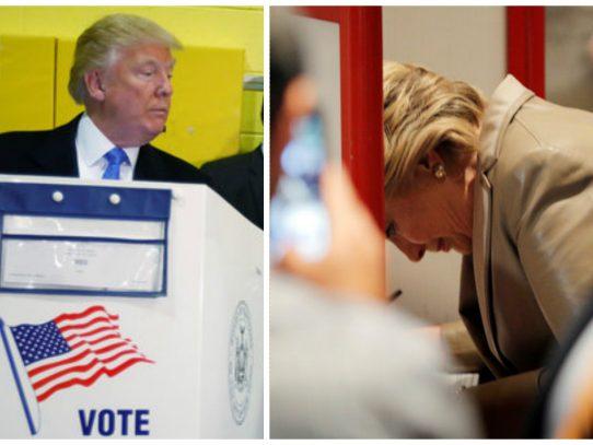 Estadounidenses deciden entre Clinton y Trump en las urnas