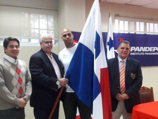 Domingo Ávila, abanderado de la delegación panameña para los III Juegos Bolivarianos de Playa 2016
