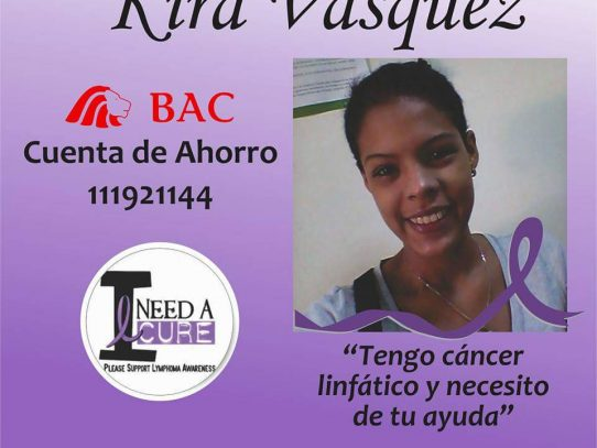 """""""Tengo cáncer y necesito que me ayuden"""", Kira Vásquez"""