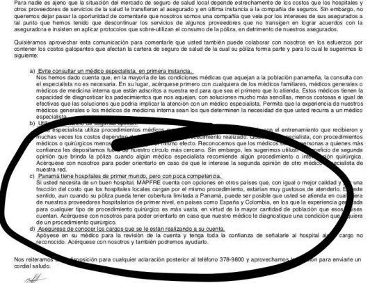 Minsa rechaza afirmaciones de Mapfre sobre los profesionales panameños de la salud