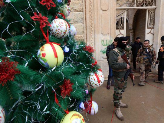 Primera Nochebuena en una iglesia del norte de Irak retomada a los yihadistas