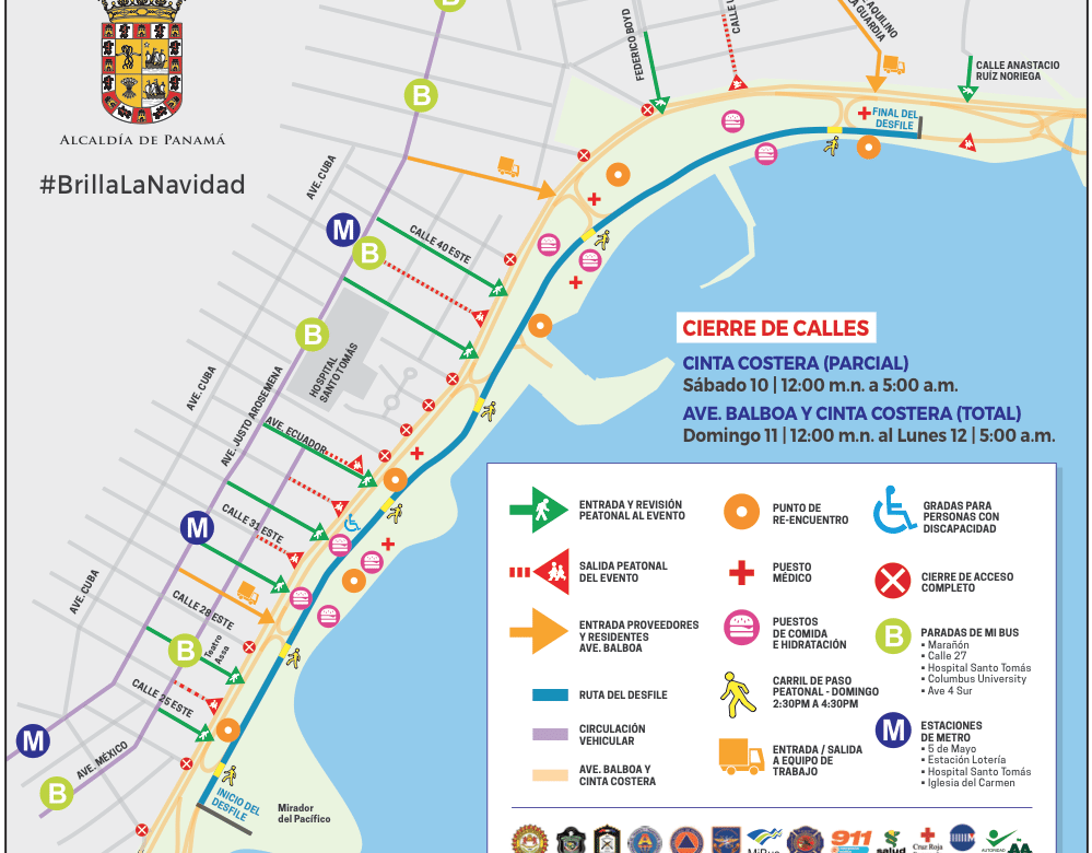 Desfile de Navidad: en marcha plan de logística y seguridad