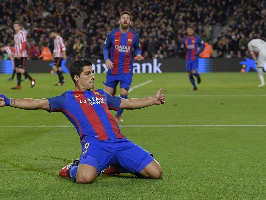 Suárez marca su gol número 100 con el Barcelona