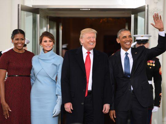 Obama recibe a Trump en la Casa Blanca antes de la investidura
