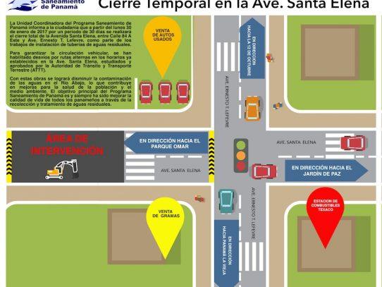 Cierran temporalmente la avenida Santa Elena durante un mes a partir de hoy