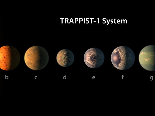 Científicos descubren siete planeta del tamaño de la Tierra