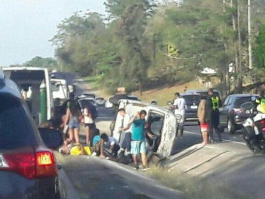 Ocho personas heridas en accidente registrado en Capira
