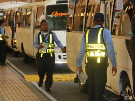 ATTT inspecciona autobuses en la Terminal de Albrook