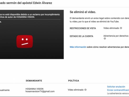 Hosanna Visión tumba polémico video de Edwin Álvarez