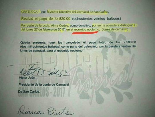 Junta de Carnaval de San Carlos aclara sobre participación de exministra en culecos