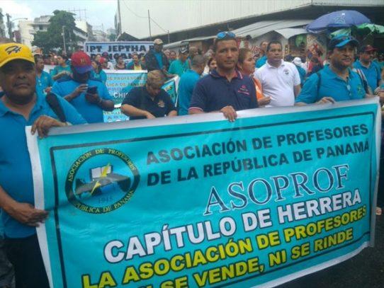 La Asociación de Profesores de Panamá anuncian marcha para este 19 de mayo