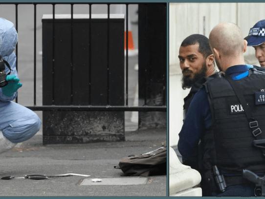 Hombre armado con cuchillos detenido cerca de Parlamento británico