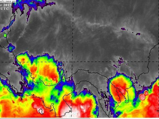 SINAPROC: aviso de prevención de lluvias con actividad eléctrica y mar de fondo