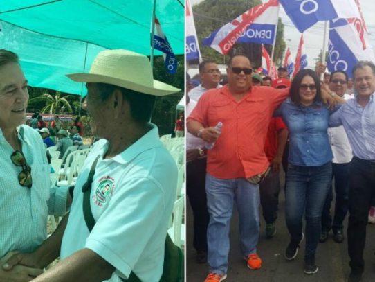 Nito Cortizo y Juan Carlos Navarro aparecen en gira del CEN en Coclé