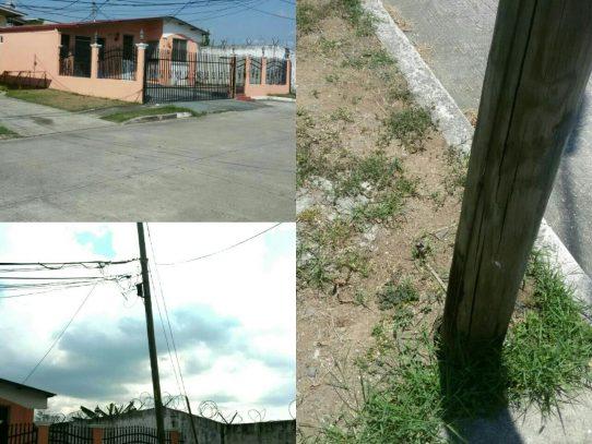 Denuncia de poste eléctrico en mal estado no es atendida por el ENSA