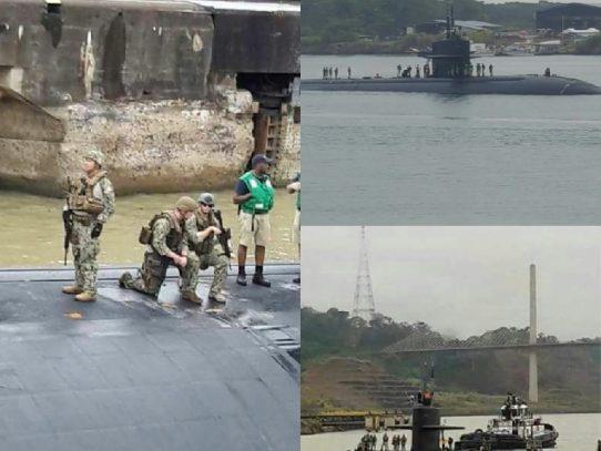 Submarino nuclear transita por el Canal de Panamá