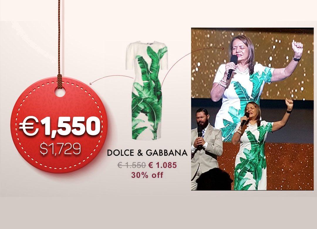 Pastora de Hosanna luce vestido de 1,729 dólares durante predica