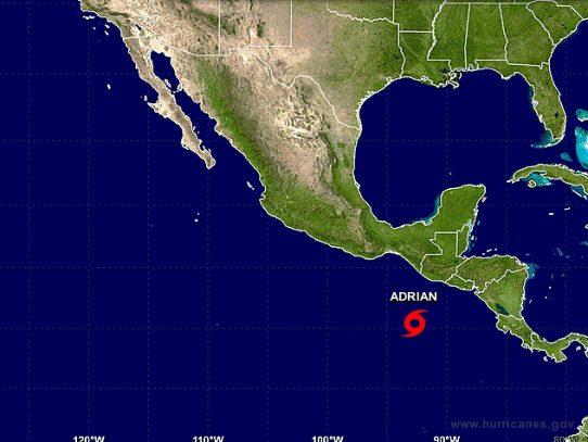 Se forma Adrián, primera tormenta tropical del Pacífico este en 2017