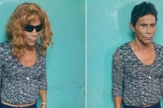 Reo hondureño intenta escapar de prisión disfrazado de mujer rubia