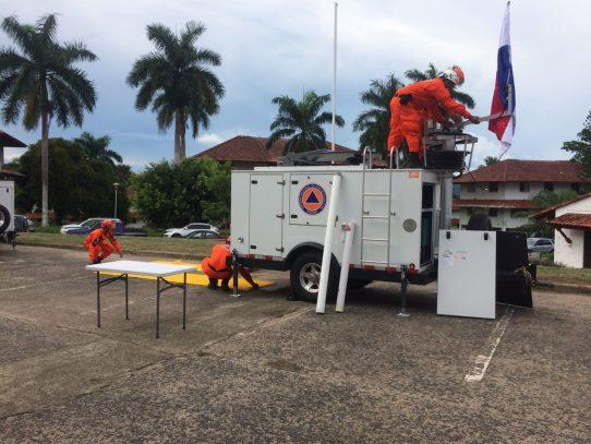 Tres centros móviles de respuesta a emergencia para el Sinaproc