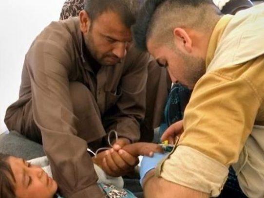 Intoxicación alimentaria masiva en un campo de refugiados iraquí