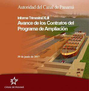 ACP entrega Informe trimestral sobre avance de contratos del programa de ampliación