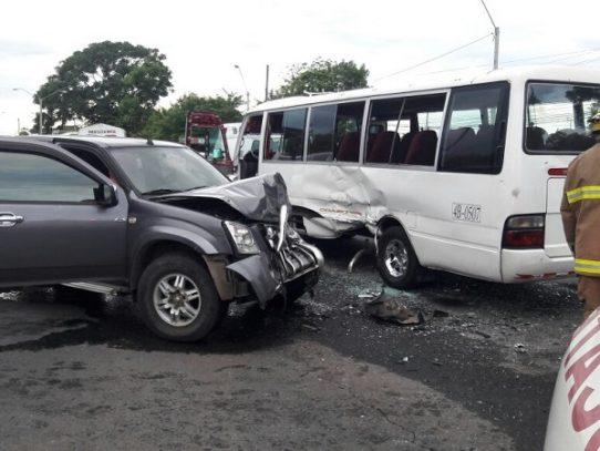 Accidente de tránsito en Chiriquí, deja 22 heridos